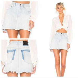 NEW One Teaspoon 2020 Mini Skirt Denim Blue Jean